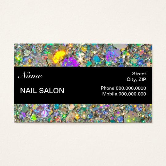 Nail Salon Business Cards Beautiful Nail Salon Customer Loyalty Punch Business Card