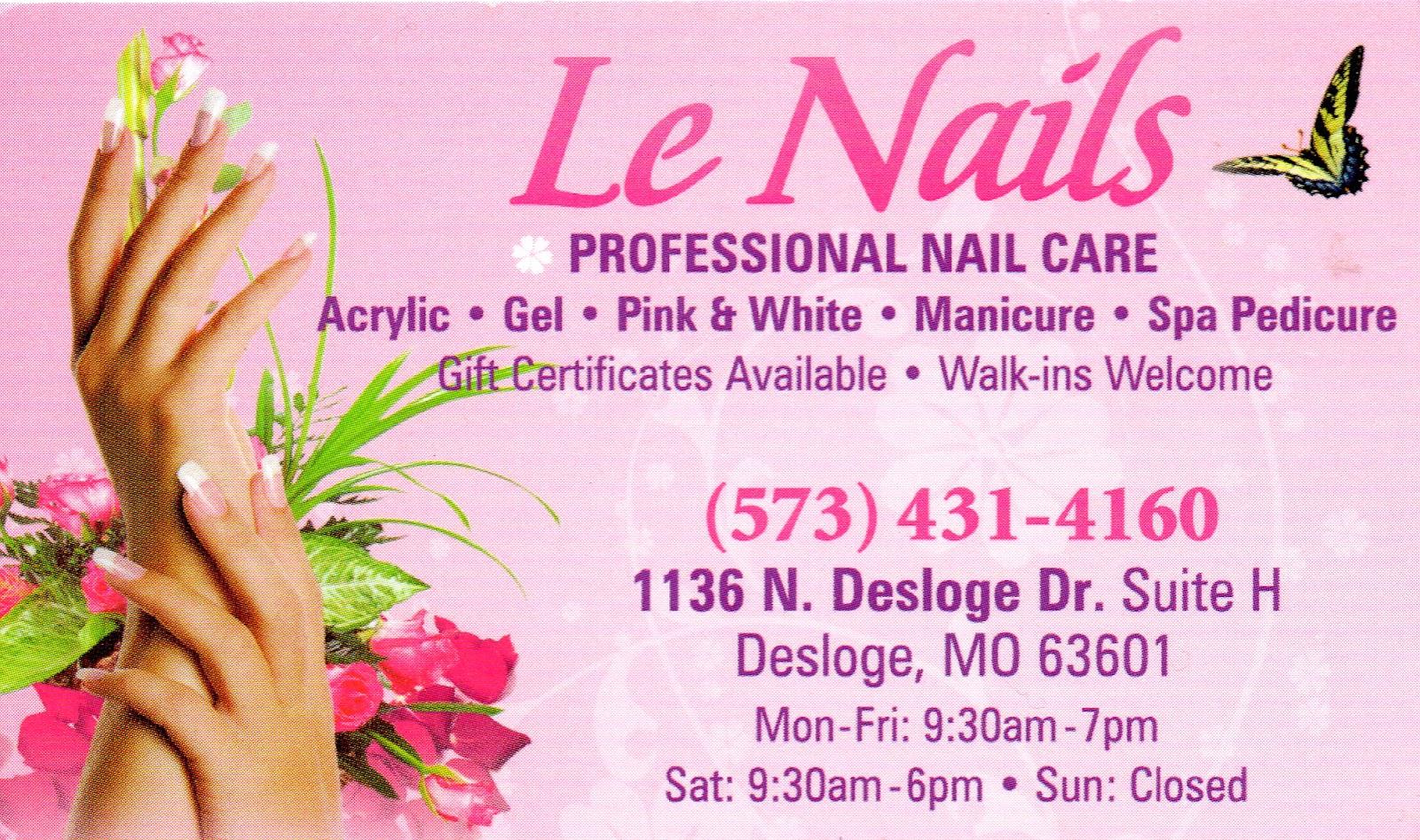 Nail Salon Business Cards Beautiful Nail Salon Review
