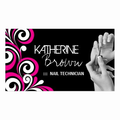 Nail Salon Business Cards Beautiful Stylish Nail Salon Business Card Template