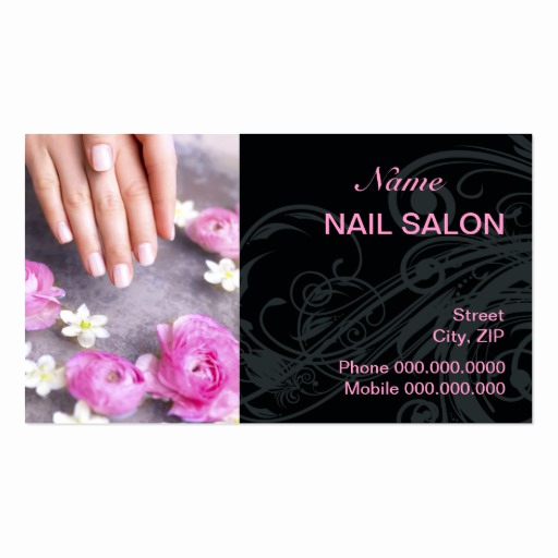Nail Salon Business Cards Best Of Nail Salon Business Card Business Card Template