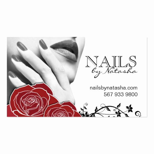 Nail Salon Business Cards Elegant Nail Salon Business Cards