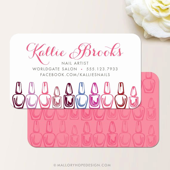 Nail Salon Business Cards Inspirational Manicurist Business Card Calling Card Mommy Card