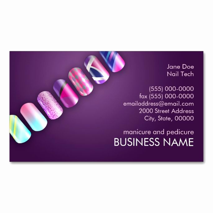 Nail Salon Business Cards New 1938 Best Images About Nail Technician Business Cards On