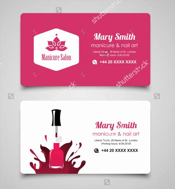 Nail Salon Business Cards Unique 19 Nail Salon Business Card Templates Word Ai Psd