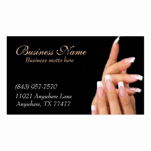 Nail Salon Business Cards Unique Custom Black Nail Salon Business Cards