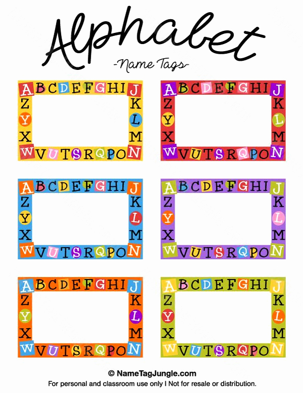 Name Tag Template Free Awesome Free Printable Alphabet Name Tags the Template Can Also