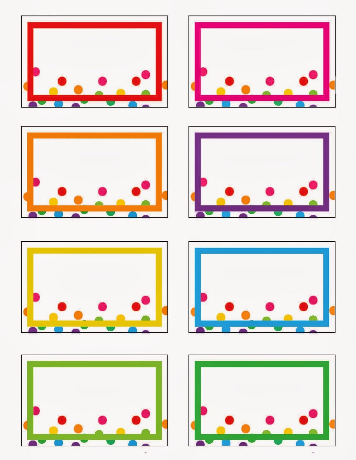 rainbow party printables free