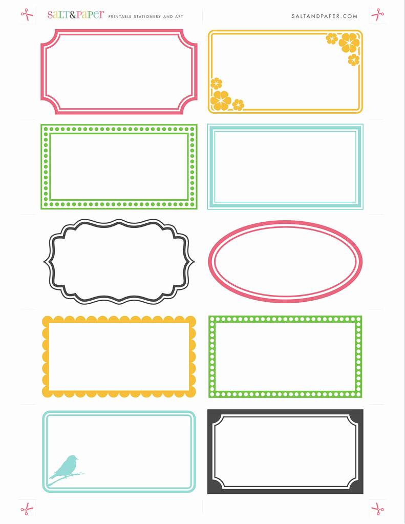 Name Tag Template Free Fresh Printable Labels From Saltandpaper