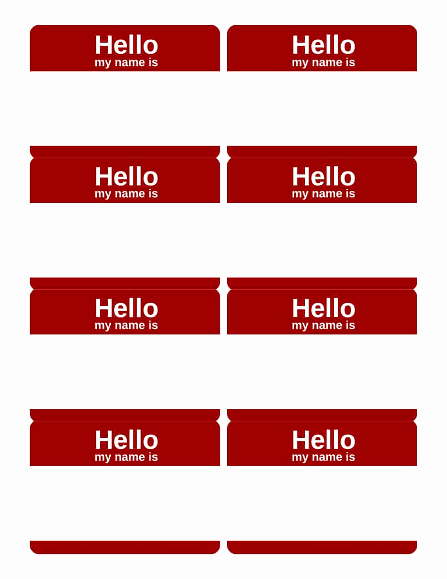 Name Tag Template Free New 47 Free Name Tag Badge Templates Template Lab