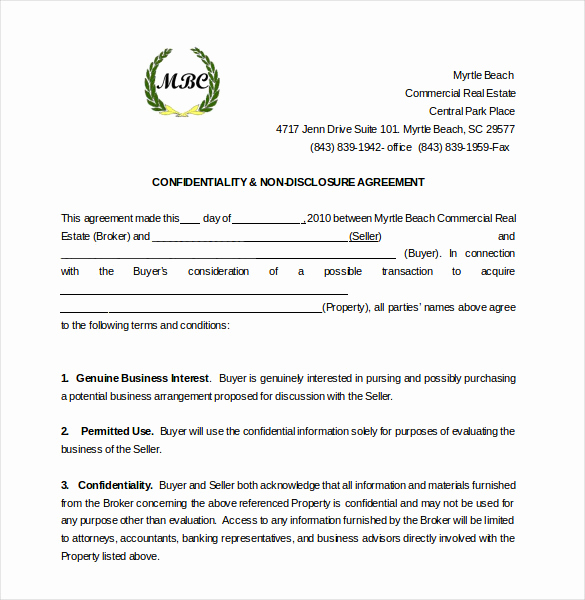 Nda Agreement Template Word Awesome 30 Word Non Disclosure Agreement Templates Free Download