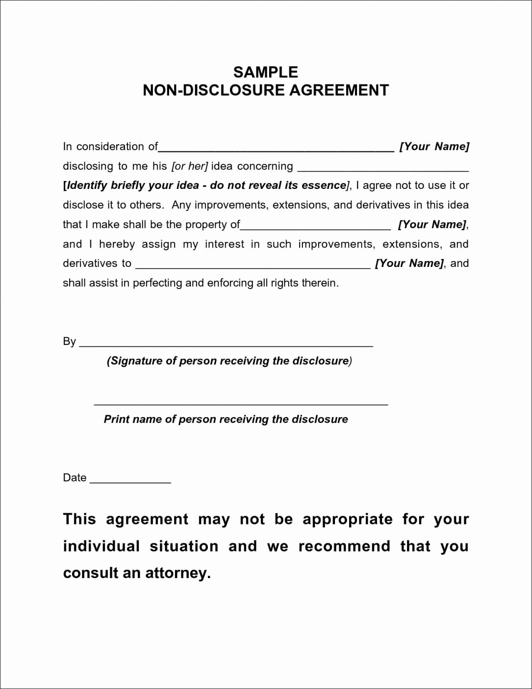 Nda Agreement Template Word Awesome Employee Non Disclosure and Confidentiality Agreement