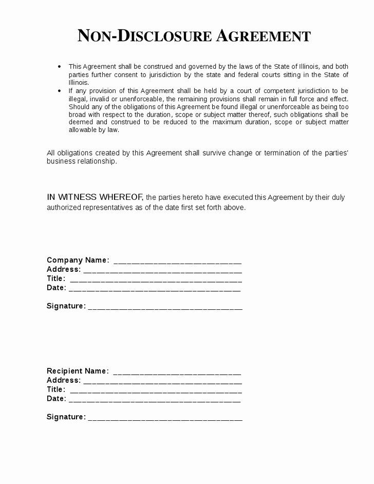 Nda Agreement Template Word Unique top 5 Free Non Disclosure Agreement Templates Word