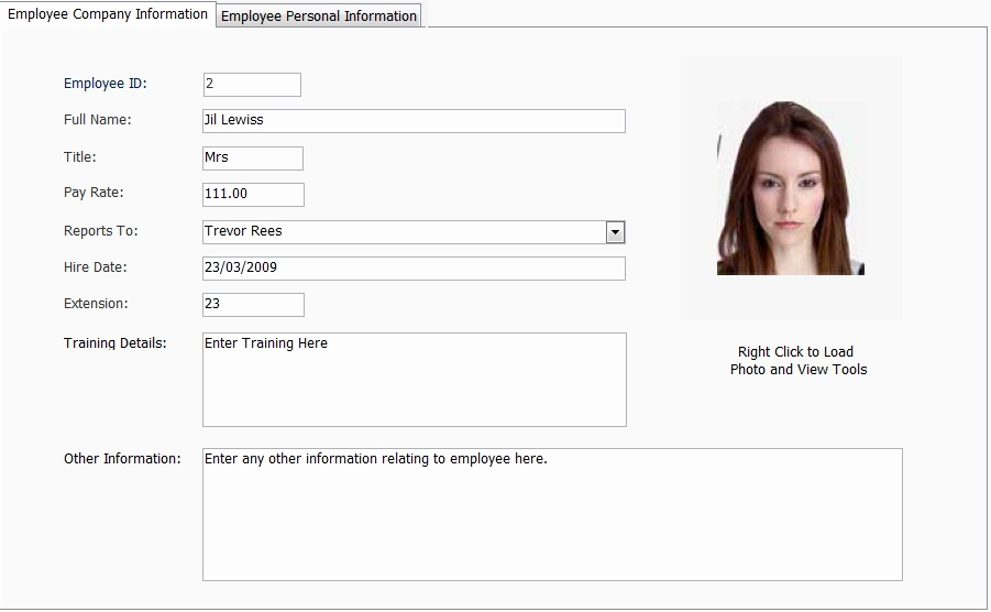 New Employee Information form Elegant Home [ ]
