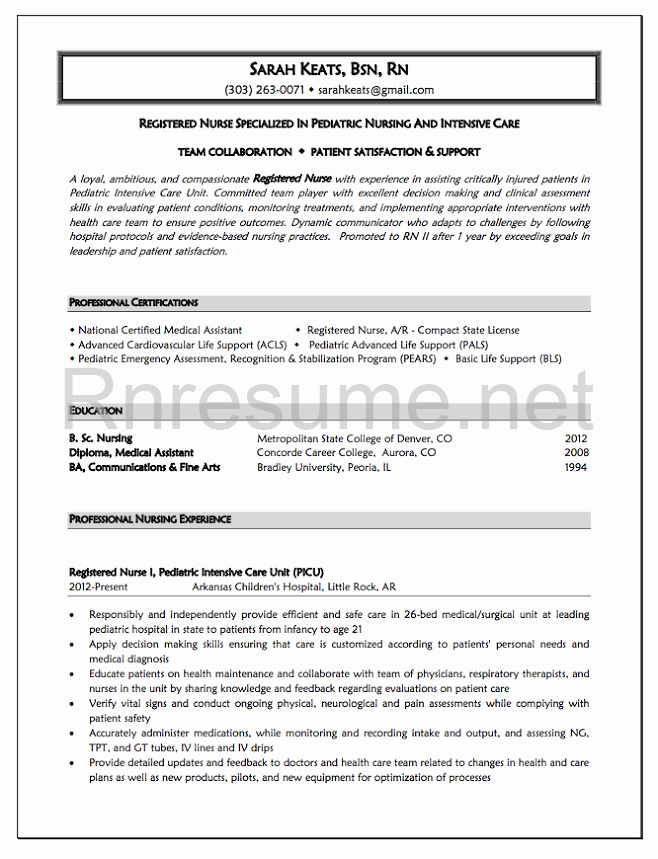 New Graduate Nurse Resume Examples Best Of 1000 Ideas About Rn Resume On Pinterest