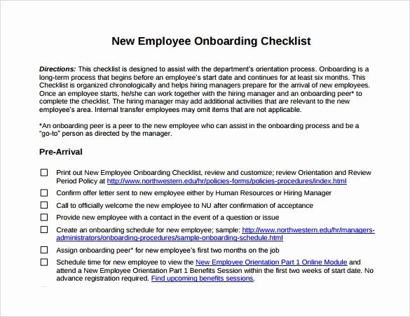 New Hire Checklist Template Luxury New Hire Checklist Sample 14 Documents In Pdf