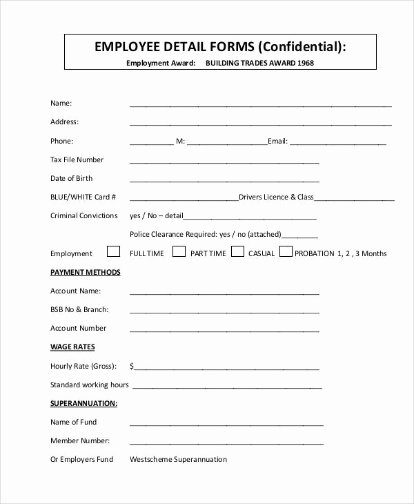 New Hire forms Template Fresh 29 Of New Hire Authorization form Template