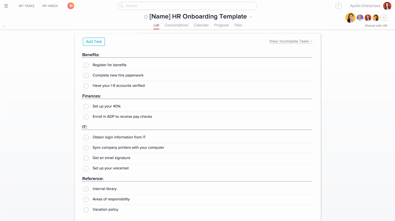 New Hire forms Template Inspirational How to Use asana for Onboarding New Hires