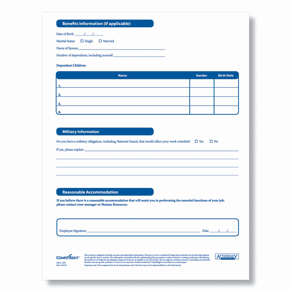 New Hire forms Template Luxury Downloadable New Employee Information Sheet From Plyright