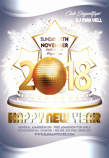 New Years Eve Flyer Awesome New Year Eve – Free Flyer Psd Template – by Elegantflyer