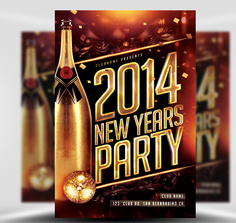 New Years Eve Flyer Awesome New Year S Eve Flyer Template Flyerheroes