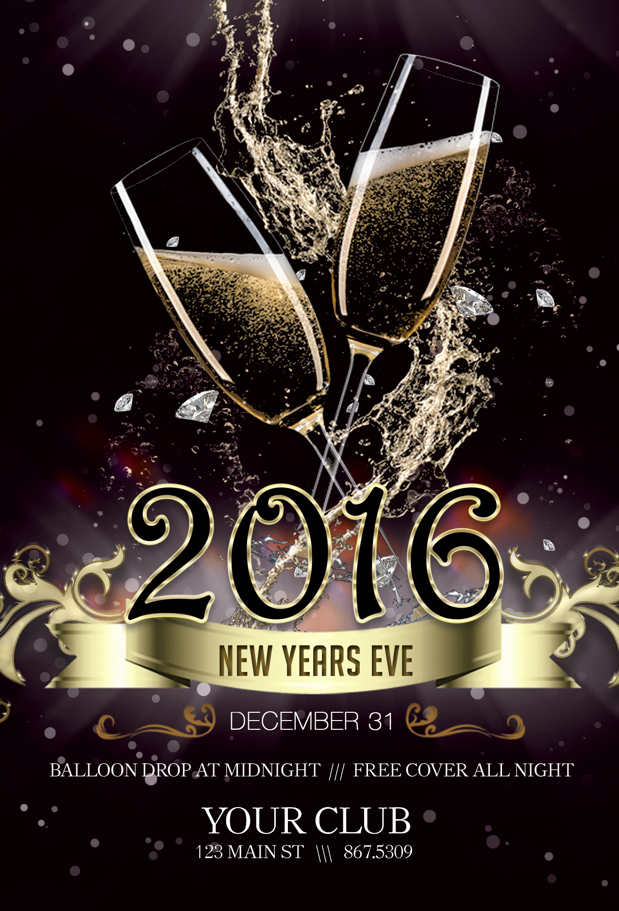 New Years Eve Flyer Awesome New Years Eve Flyer Club Flyer Fresh View Concepts