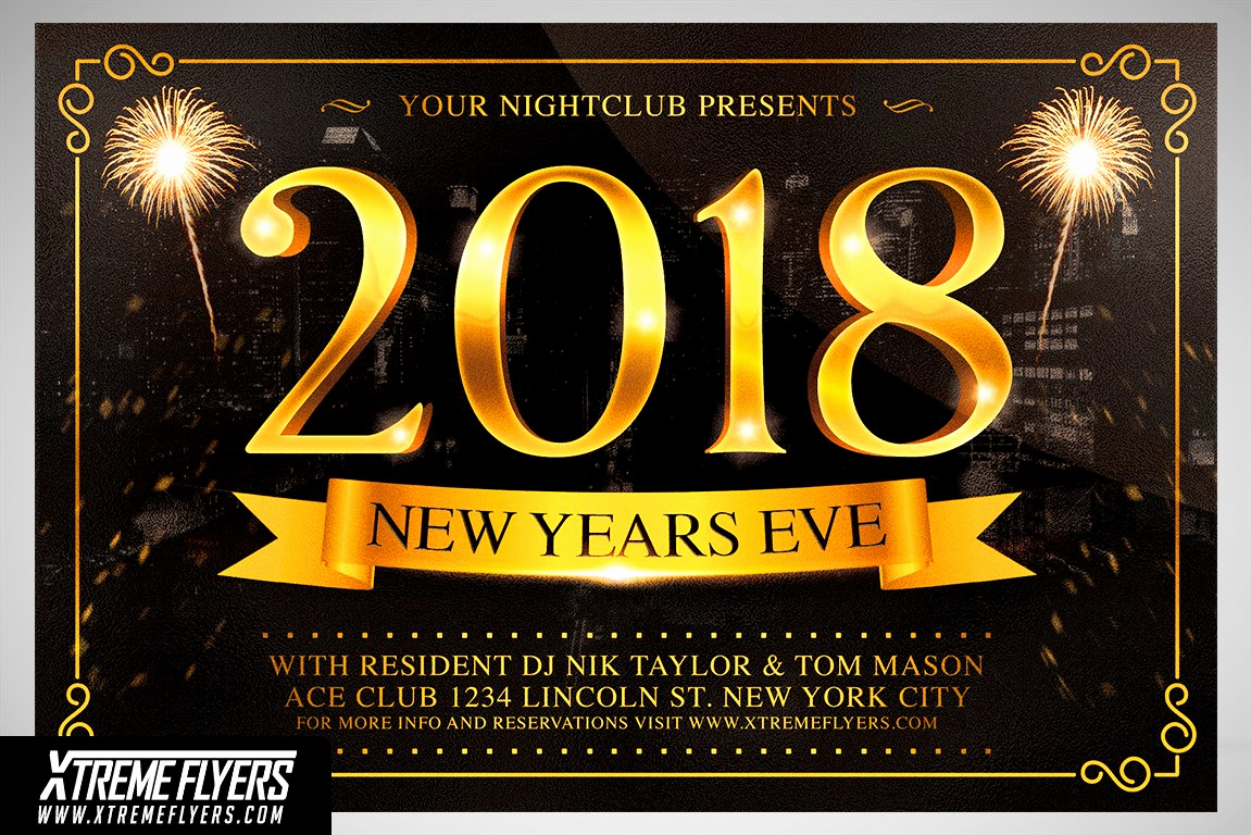 New Years Eve Flyer Beautiful New Years Eve Flyer Template Flyer Templates Creative