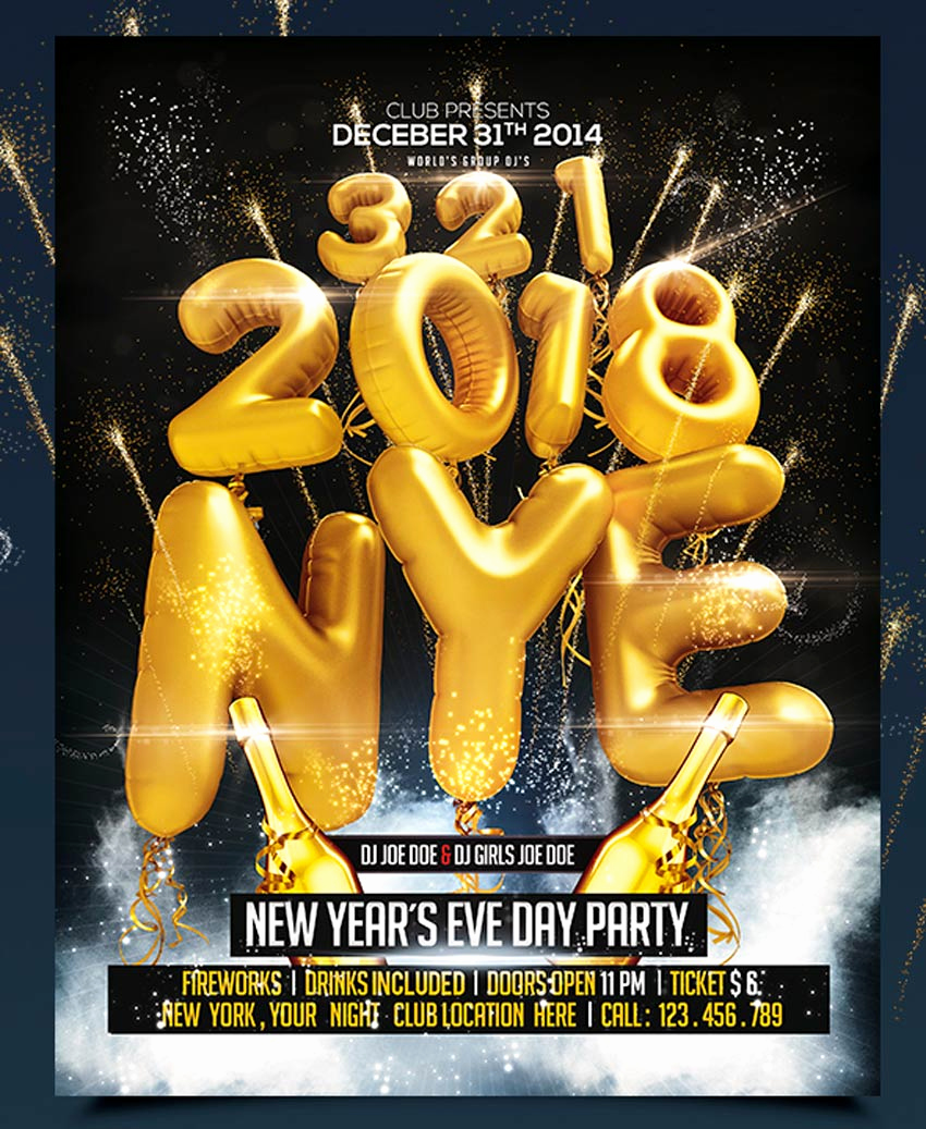 New Years Eve Flyer Elegant 30 Best New Year S Eve Flyers and Invitations