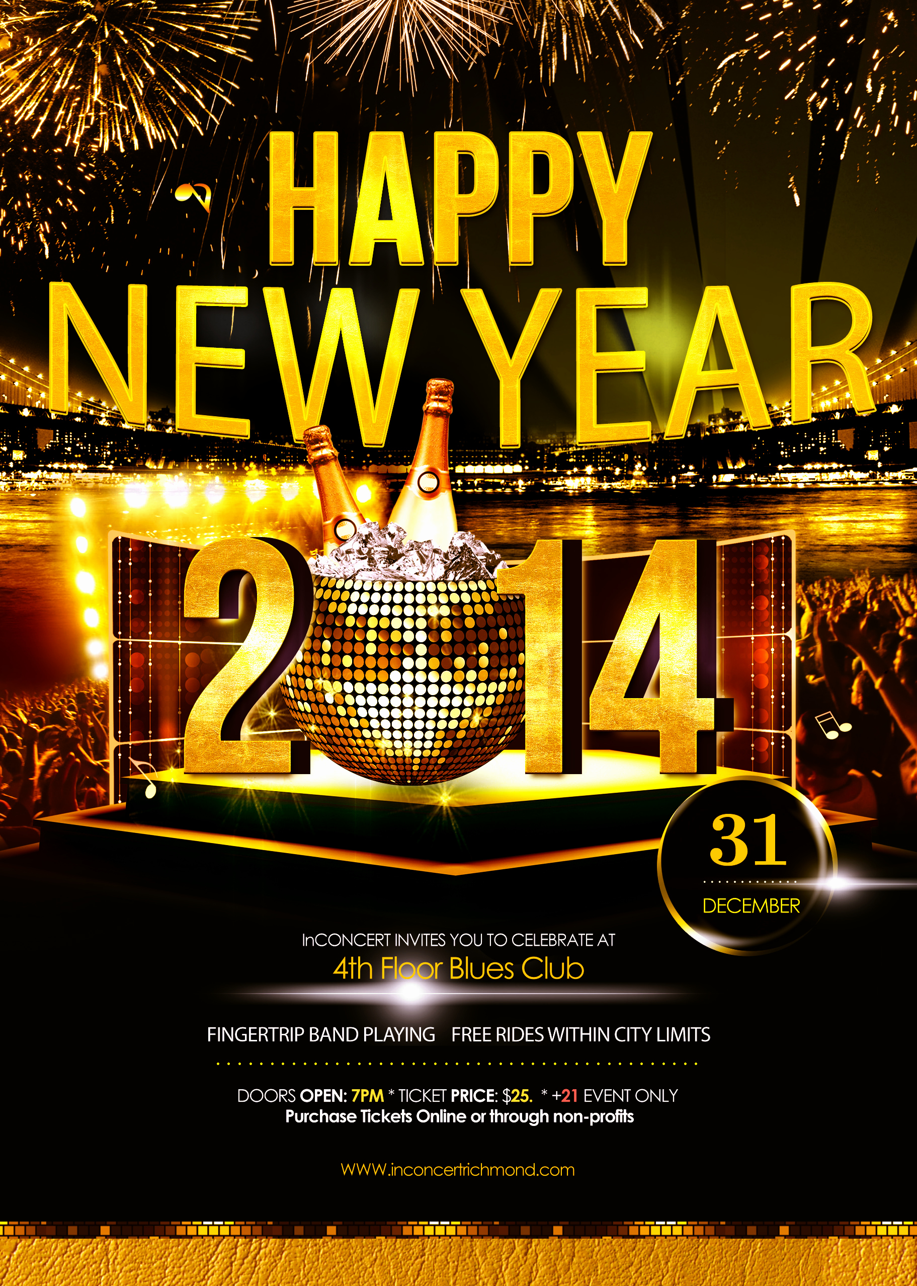 New Years Eve Flyer Elegant New Year S Eve Party at 4th Floor Blues Club
