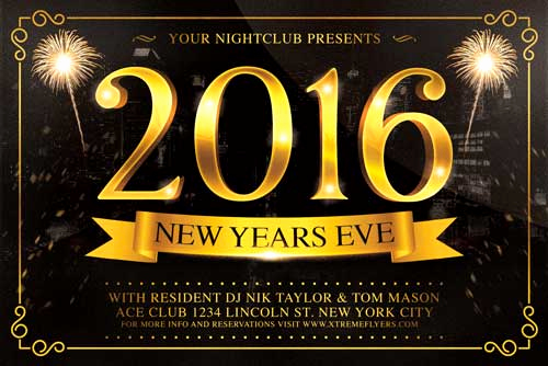 New Years Eve Flyer Elegant New Years Eve Flyer Template Xtremeflyers