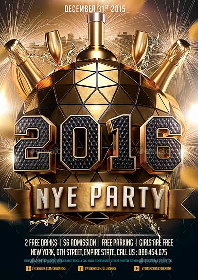 New Years Eve Flyer Fresh 2016 New Years Eve Nye Flyer Template