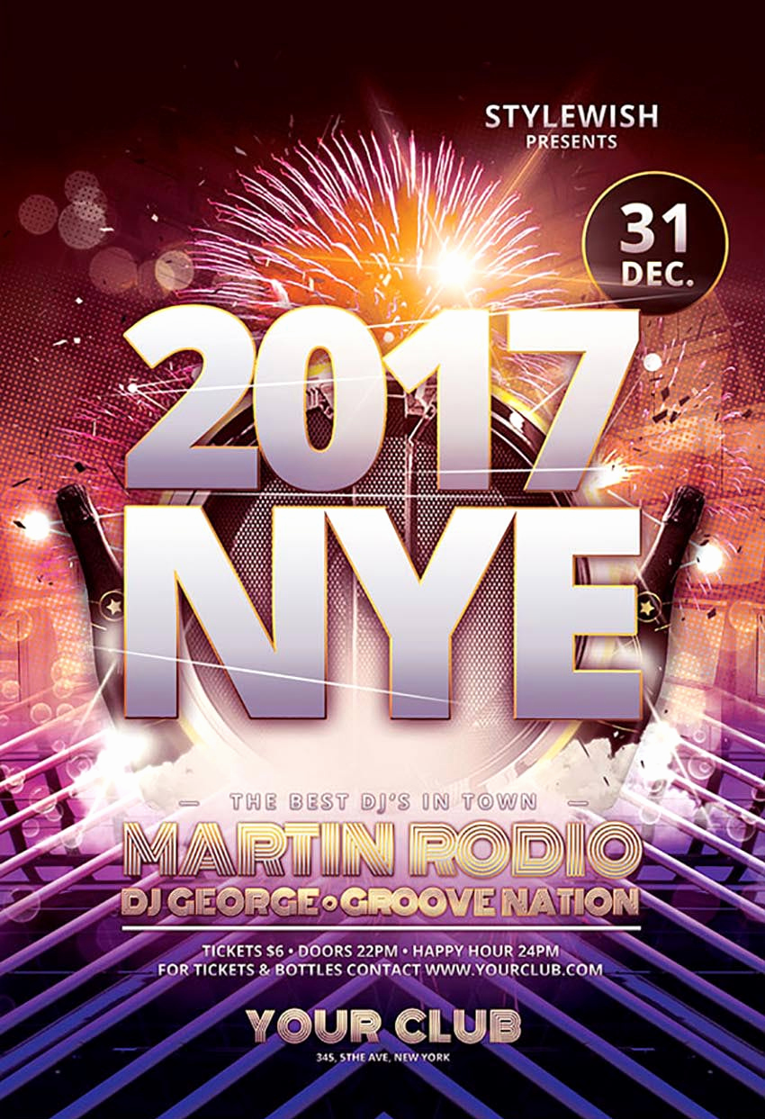 New Years Eve Flyer Inspirational 50 Amazing Christmas and New Year S Eve Flyers for the