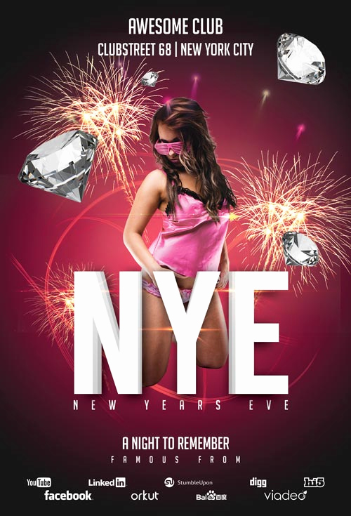 New Years Eve Flyer Inspirational New Years Eve Club Flyer Template