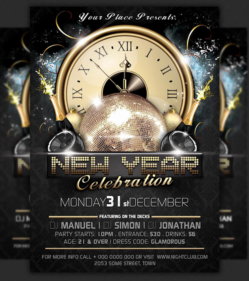 New Years Eve Flyer Lovely 50 Amazing Christmas and New Year S Eve Flyers for the