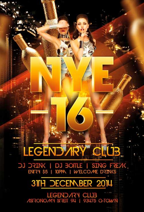 New Years Eve Flyer Luxury Legendary New Years Eve Flyer