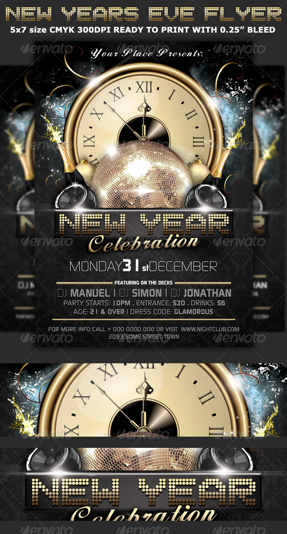 New Years Eve Flyer Luxury New Years Eve Party Flyer Template by Hotpin