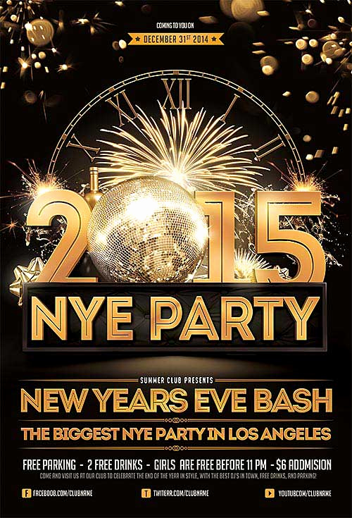 New Years Eve Flyer New Download New Years Eve Free Psd Flyer Template
