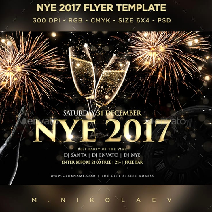 New Years Eve Flyer Unique 28 New Years Party Flyers and Digital Invites Codeholder