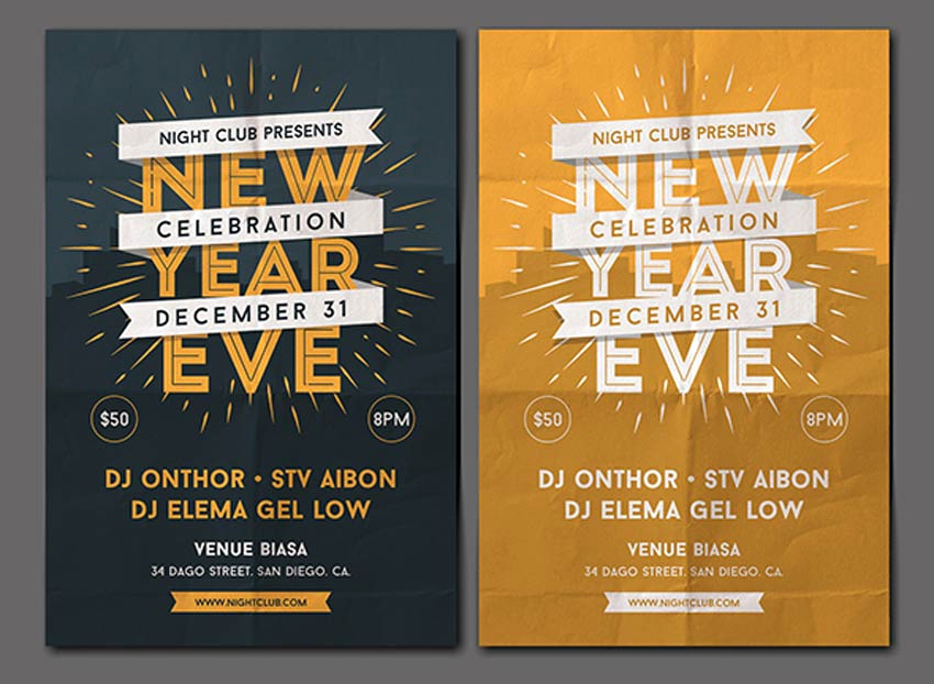 New Years Eve Flyer Unique 30 Best New Year S Eve Flyers and Invitations