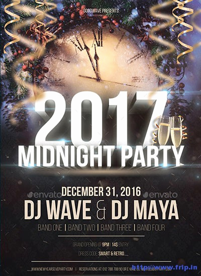 New Years Eve Flyer Unique 85 Best New Year Flyer Print Templates 2017