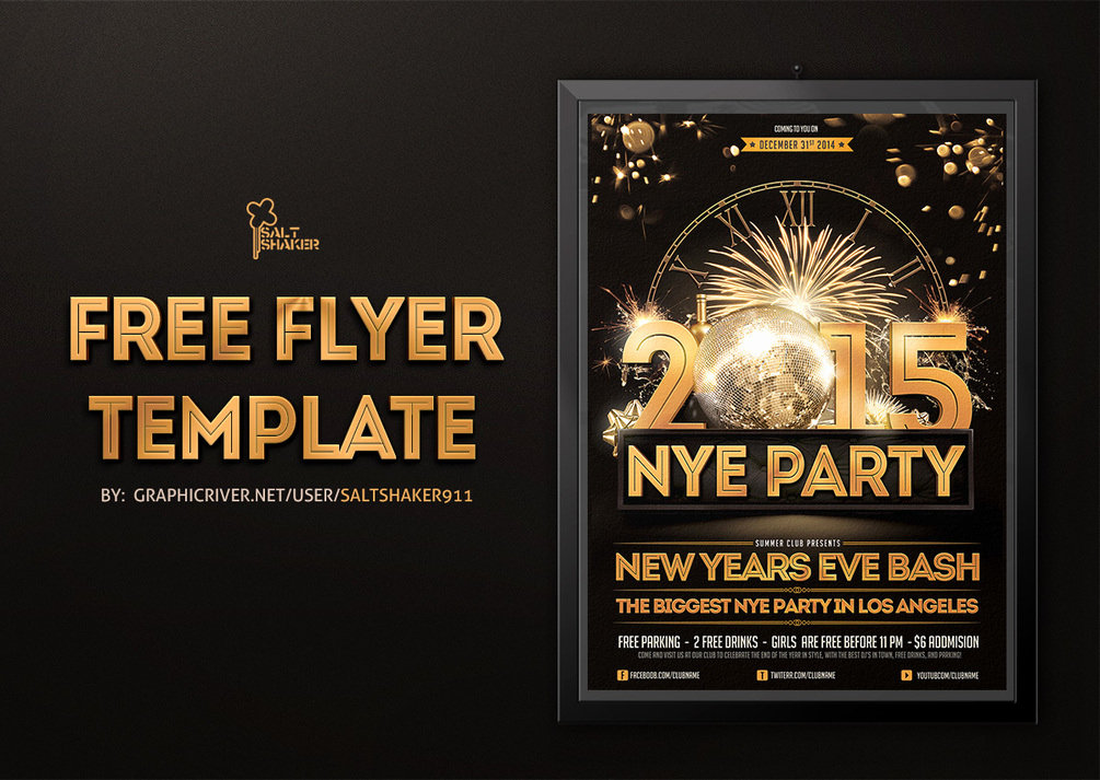 New Years Eve Flyer Unique New Years Eve Flyer Template by Saltshaker911