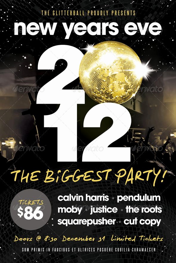 New Years Eve Flyer Unique New Years Eve Flyer Template