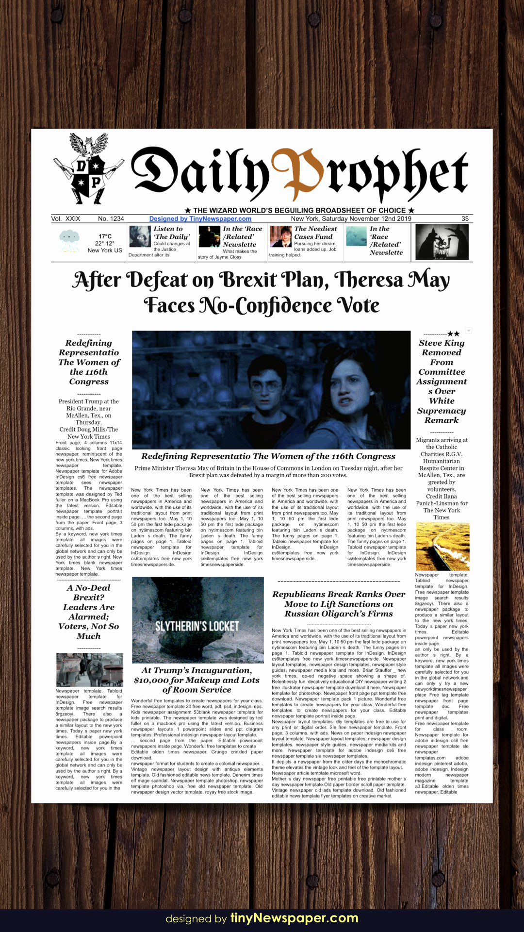 Newspaper Template for Google Docs Awesome Daily Prophet Newspaper Template Google Docs