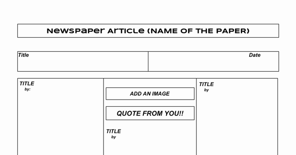 Newspaper Template for Google Docs Awesome News Paper Article Template Google Docs