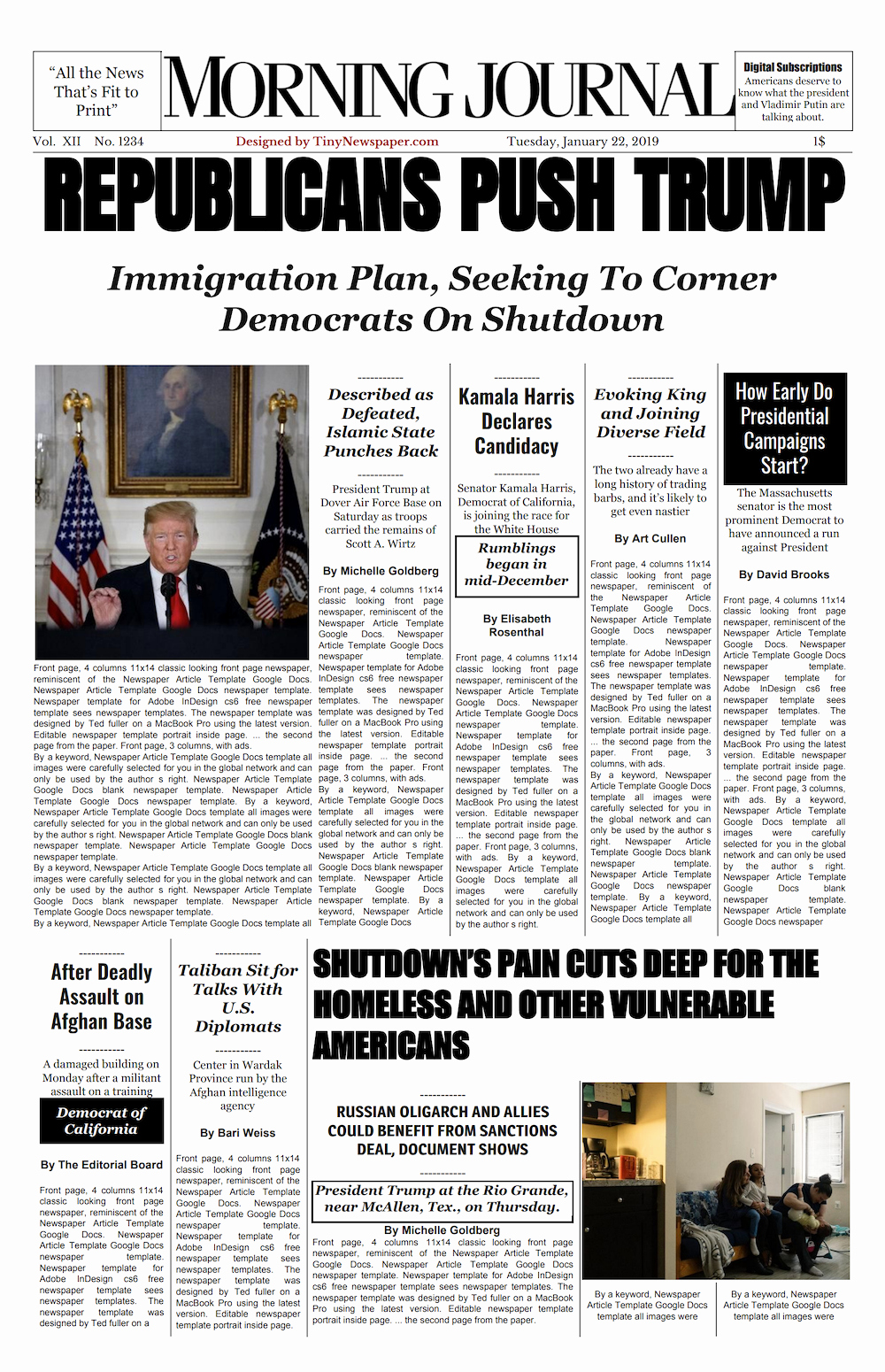 Newspaper Template for Google Docs Beautiful New York Times Front Page Template