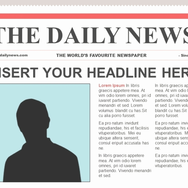 Newspaper Template for Google Docs Beautiful Newspaper Template for Google Docs