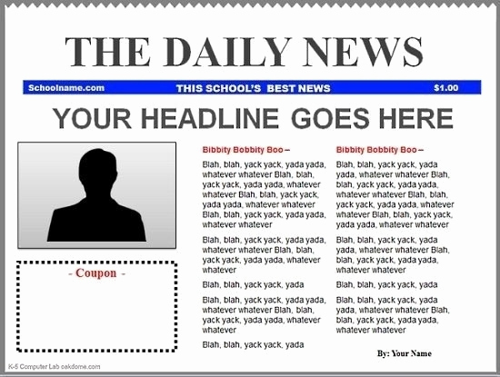 Newspaper Template for Google Docs Lovely Blank Newspaper Template Google Docs