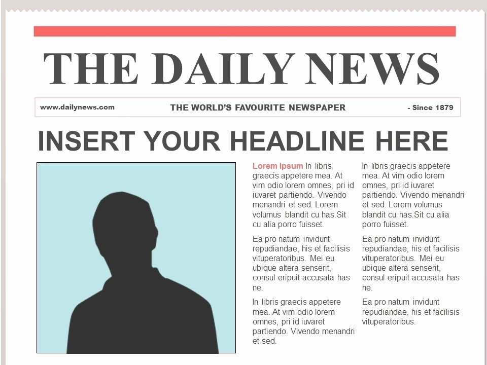 Newspaper Template for Google Docs Lovely Newspaper Template 2018