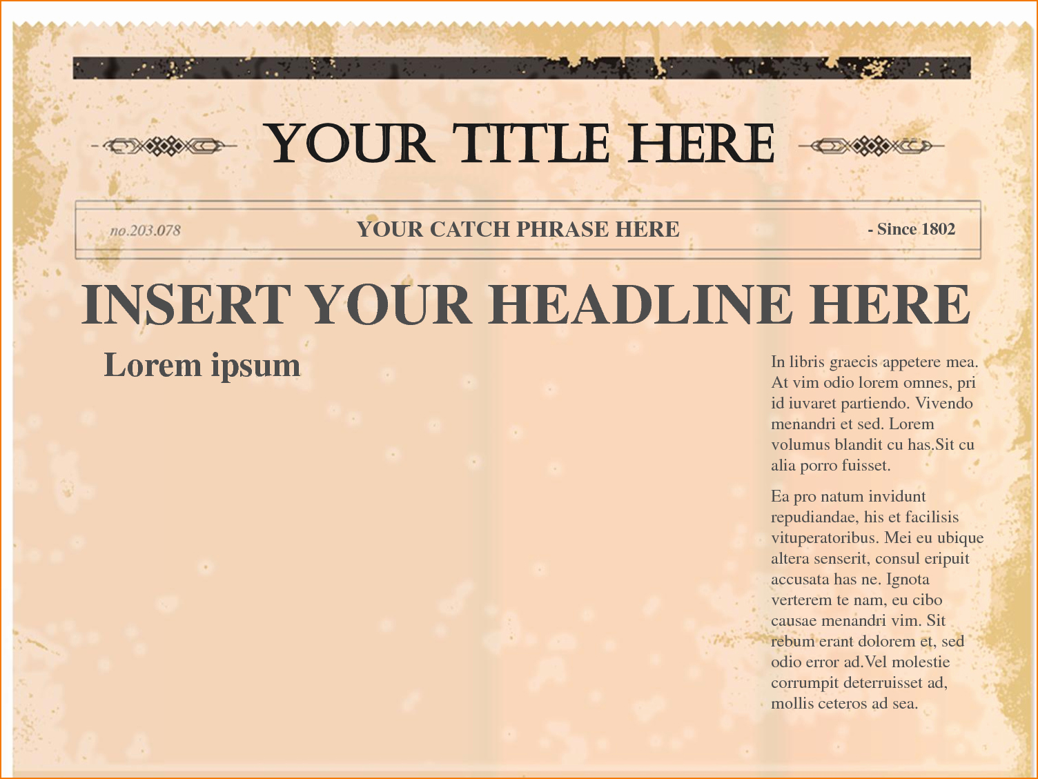 Newspaper Template for Google Docs Luxury 4 Free Newspaper Templates
