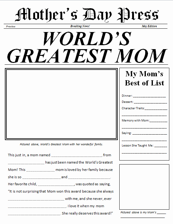 Newspaper Template for Kids Best Of Newspaper Template for Kids