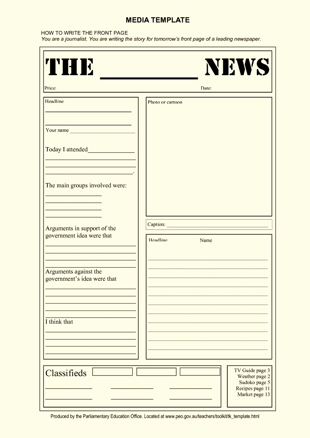 Newspaper Template for Kids Elegant Blank Newspaper Article Template for Kids Template